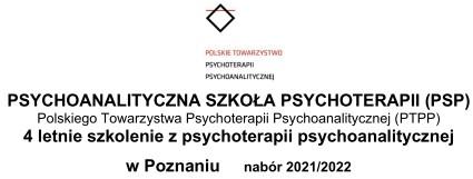 4-letnie szkolenie z psychoterapii psychoanalitycznej PSP Poznań